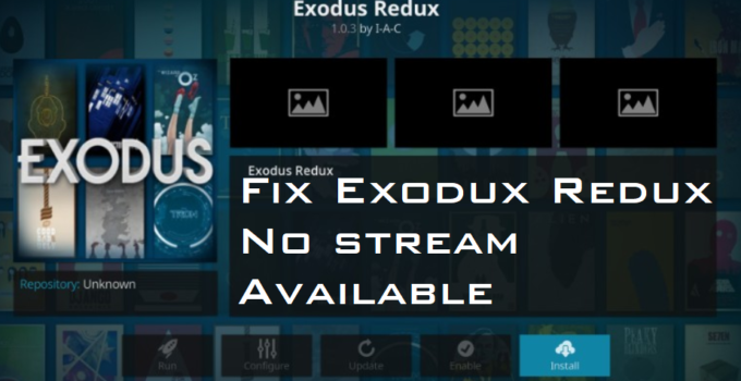 exodus redux no stream available