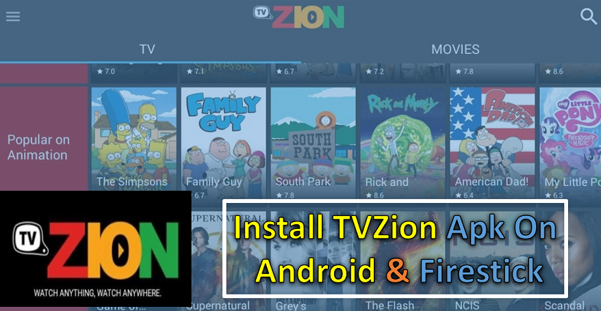 How To Install TVZion 3 1 APK On Android & Firestick/FireTV